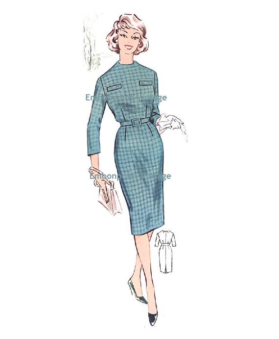 Plus Size (or any size) Vintage 1950s Dress Pattern - PDF - Pattern No 20: Janet