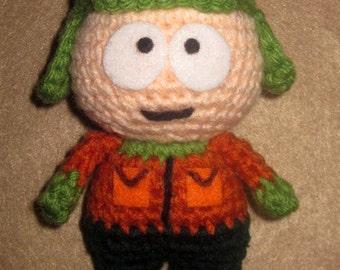 Adorable crochet Amigurumi South Park  Kyle Broflovski