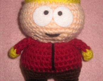 Adorable crochet Amigurumi South Park Eric Cartman