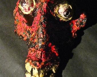 Vintage San Francisco Tenderloin Artist Walter Di Santi Scupture Head