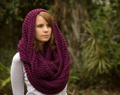 Infinity Scarf, Chunky Scarf, Women's Winter Accessories, Oversized Infinity, Wool Scarf