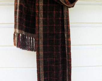 Handwoven Rayon Chenille Scarf-Made to Order