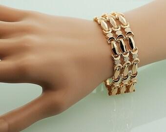 Antique Bracelet - Antique Rose Gold Link Bracelet