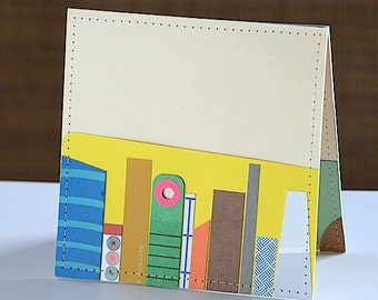 Upcycled Skyscrapers & Mountaintops Pocket Card