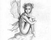 Flower Fairy - Original Drawing