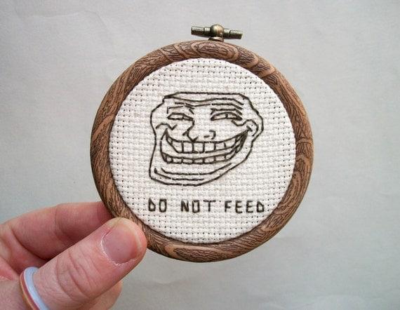 Contemporary digital world troll meme don t feel the trolls
