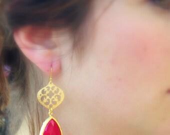 Bohemian Drop Bridesmaids Earrings