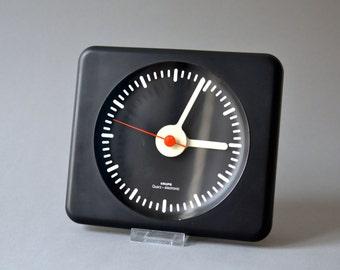 Vintage wall clock West German Krups black 80s 90s