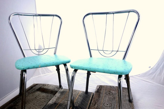 Sale vintage metal kids chairs set of 2 small child size for Kid sized furniture