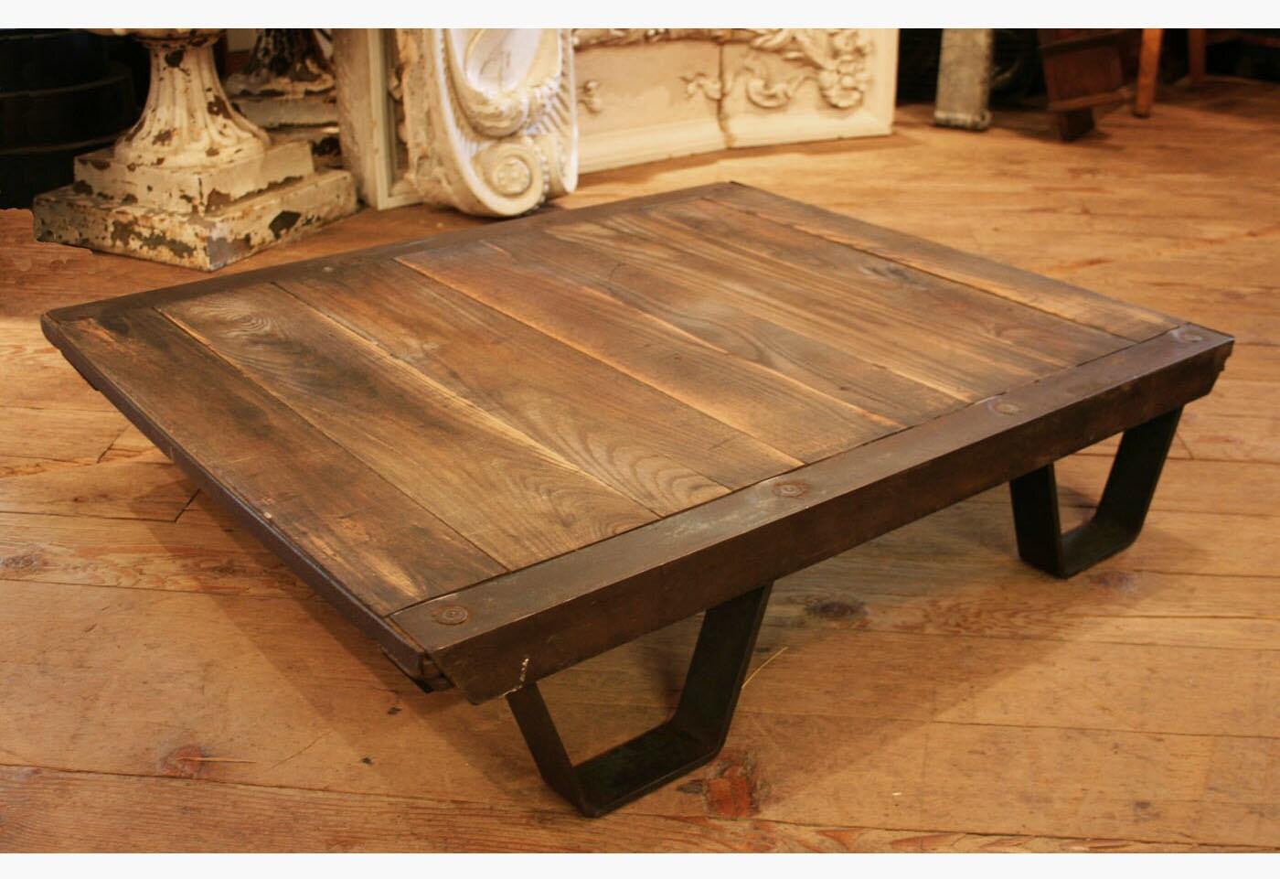 Vintage Industrial Coffee Table Pallet Industrial Furniture