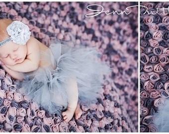 Newborn Tutu Set, Baby Tutu Set, Tutu, Tutu Set, Silver Tutu, Gray, Photo Prop, Headband, Newborn Tutu