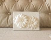 Vow Holder™ Wedding Vows Framed - Daisy Flowers Silk Vow Folio - Vow Book - Wedding Keepsake