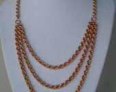 Bronze Multi Strand Spiral Necklace-Reserved For Hanna