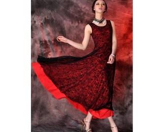 autumn dress,lace knit long vest dress,spring dress,summer dress,2 layers dress