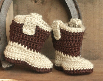 Baby Cowboy Boots - Infant Cowboy Boots - Western Baby Boots - Handmade Crochet Baby Western Boots - Western Wear Photo Prop - MADE TO ORDER