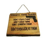 Tool Rules Wooden Sign - 12 x 15 Woodburnt - Custom Name and Image