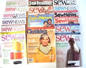 Sewing Craft Magazine Collection 16 Magazines Sew News Sew Beautiful SEW Destash DIY How Too Instructions Patterns