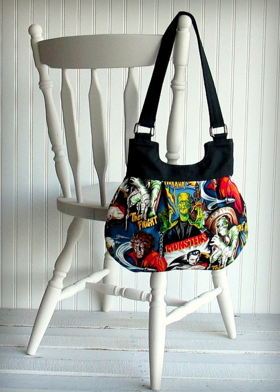 Elliptical Bag - Hollywood Monsters - RARE FABRIC