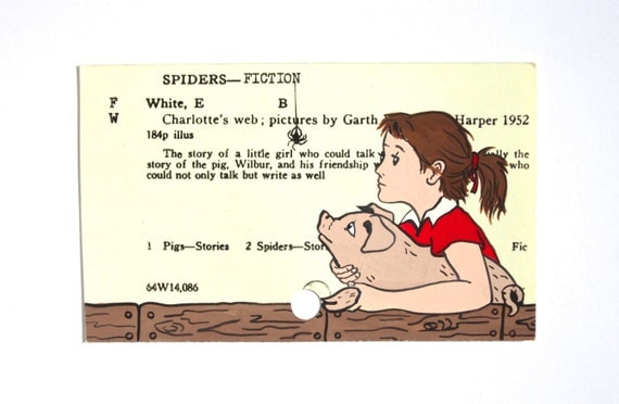 Charlotte S Web By E B White Print Of Charlotte The