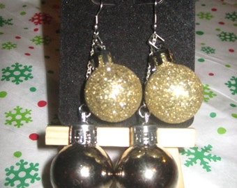 Holiday Ball Duo 2 - Mini Ornament Earrings