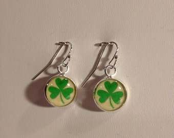 St Patrick's Day Clover Earrings
