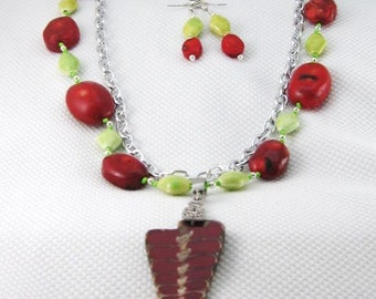 Handknotted  Genuine Red Coral  Necklace