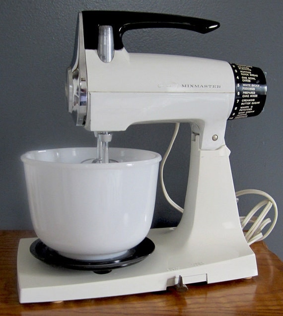 Vintage 1970s Sunbeam Stand Mixmaster With Two Bowls And