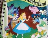 Alice in Wonderland Little Golden Book Recycled Sketchbook OR Other LGB