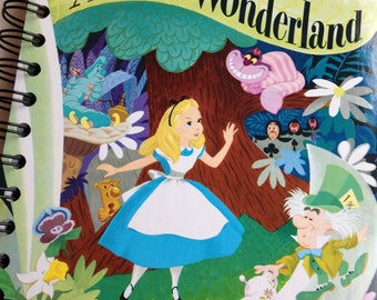 Alice in Wonderland Little Golden Book Recycled Sketchbook OR Other LGB