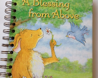 A Blessing From Above Little Golden Book Recycled Journal Notebook