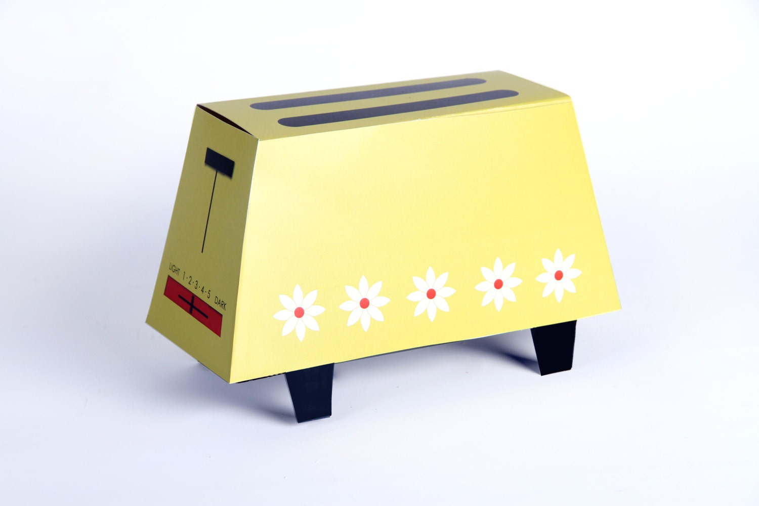 Retro Wedding Gifts: Retro Toaster Gift Box Template Vintage Wedding Gift Bridal