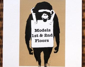 No. 285 London - Soho Monkey - limited edition screenprint