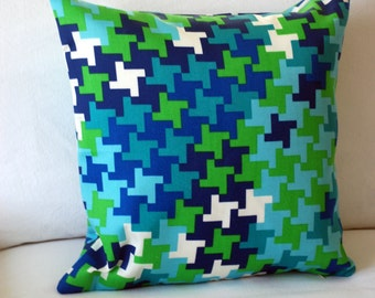 "Trina Turk for Schumacher ""Jax"" Outdoor Pillow Cover in Azure. Ready to ship."