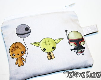 Mini Meme Wars Mini Zipper Purse Pouch - Coin Wallet  - Star Meme Wars - ReLove Plan.et