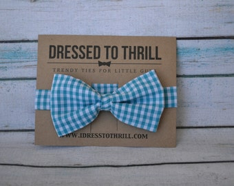 Little Boy Bowtie - Blue and White Checkered bowtie, Blue Gingham bow tie for Baby / Toddler / Little Boy / Child Bow Tie