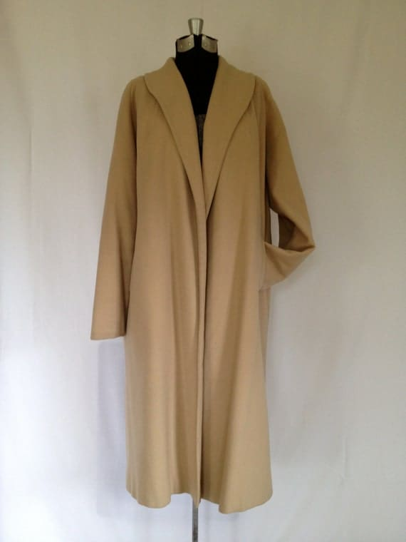 Vintage 50's Camel Color Cashmere Swing Coat