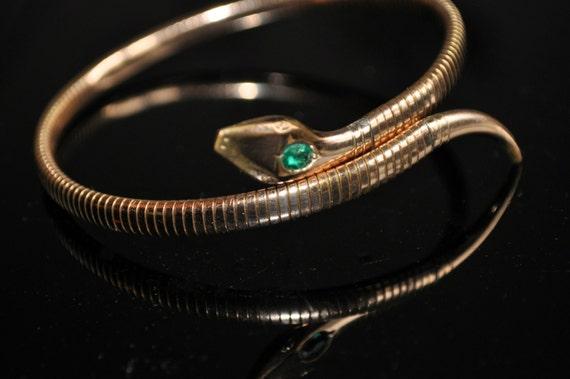 Reserved Superb Kollmar Amp Jourdan Rolled Rose Gold Snake