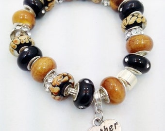 Mother European style Charm Bracelet