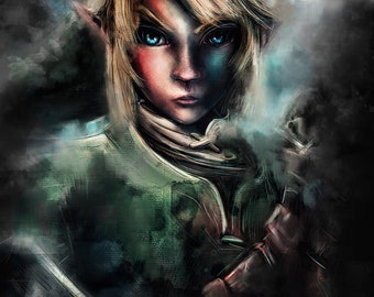 Legend of Zelda Link the Epic Hylian Painting - signed museum quality giclée fine art print