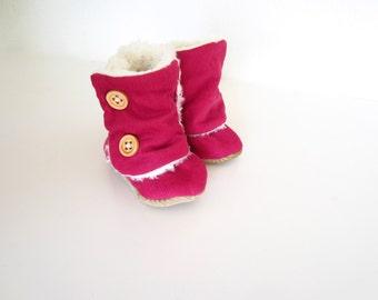 """Baby Boots The """"Lulu"""" Pink Corduroy"""