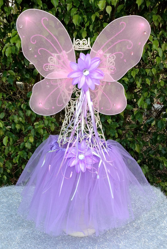 Fairy Princess Pink and Purple Tutu and Wing Fairy Princess Dress Up Party Favors