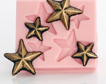 Mold Flexible Silicone - Lone star mold for fondant, gum paste, sugar, candy, chocolate food craft resin jewelry embellishment mold (902)
