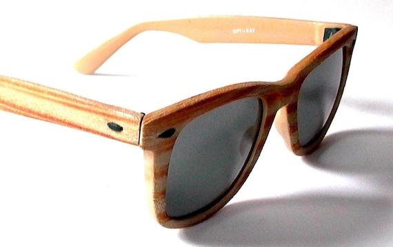 wood wayfarer sunglasses - Wood Framed Sunglasses