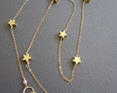 7 Tiny Star Necklace, twinkle twinkle little Star necklace, delicate Star, Teacher's necklace, Gift for Teacher, inspire gift for teacher