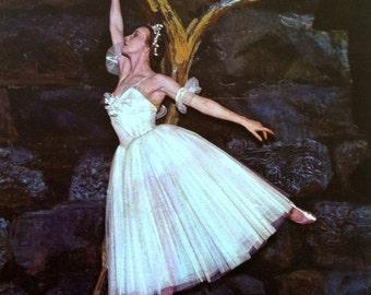 1950s ULANOVA BALLERINA in GISELLE Print Perfect for Framing