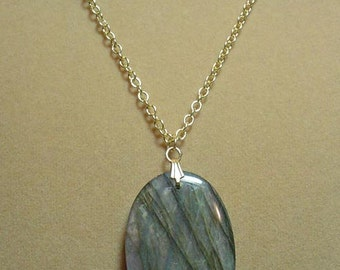 """Absolutely INCREDIBLE  20"""" Labradorite Necklace - N079"""