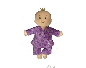Reversible Kimono-Style Pajama Set Digital PDF Pattern - Baby Stella Size