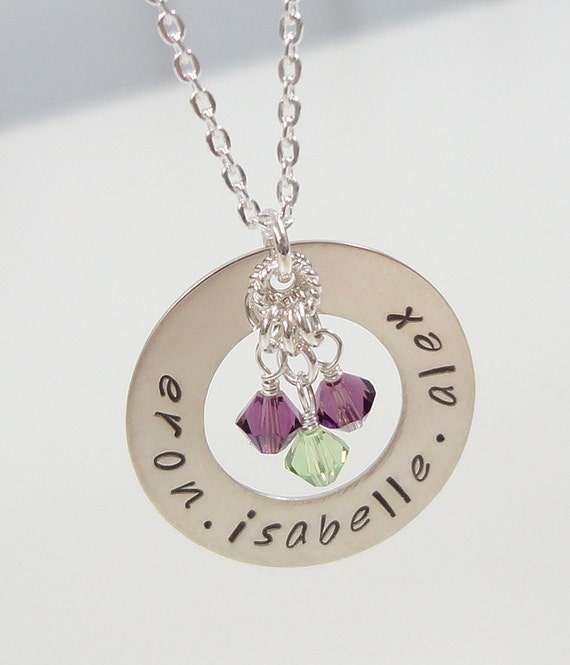 Silver mommy necklace circle of love mother necklace mothers day