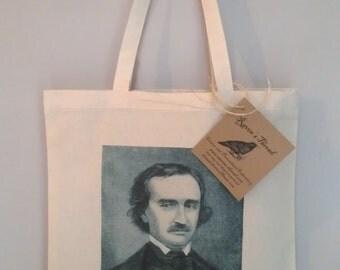Edgar Allan Poe Cotton Canvas Tote
