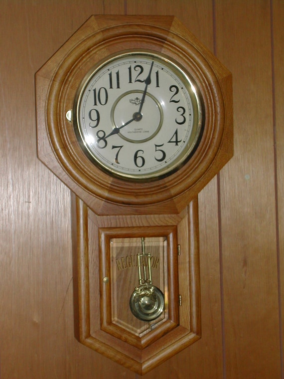 Chiming Pendulum Wall Clock Battery Operated By Merlinmn